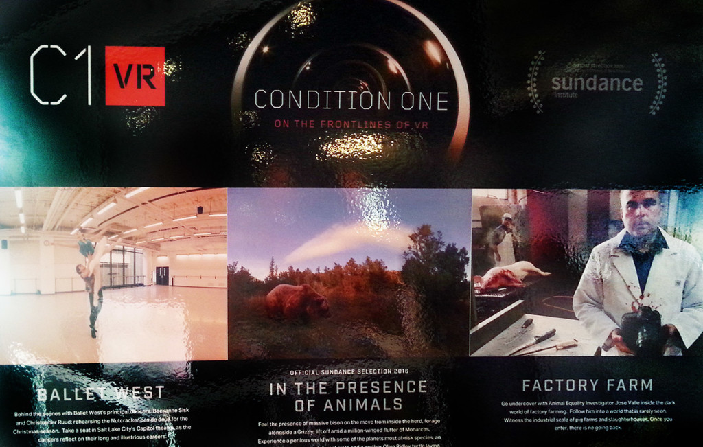 Condition One's Booth at Sundance 2016.